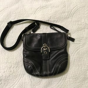 Coach Crossbody black leather handbag